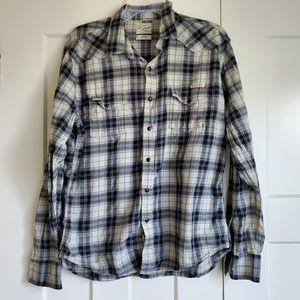 Men's Lucky Brand Weatern Style Snap-Button Shirt
